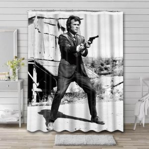 Clint Eastwood Shower Curtain Waterproof Polyester Fabric