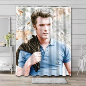 Clint Eastwood Young Waterproof Curtain Bathroom Shower