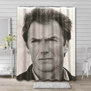Clint Eastwood Young Shower Curtain Bathroom Waterproof Fabric
