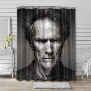 Clint Eastwood Movies Shower Curtain Waterproof Polyester Fabric
