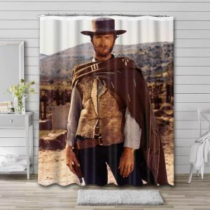 Clint Eastwood Cowboys Shower Curtain Waterproof Polyester Fabric