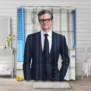 Colin Firth Actor Shower Curtain Waterproof Polyester Fabric