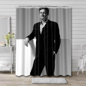 Colin Firth Actor Bathroom Shower Curtain Waterproof Polyester