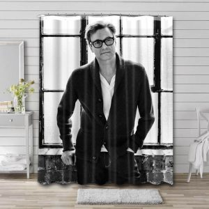 Colin Firth Bathroom Shower Curtain Waterproof Polyester