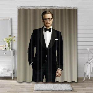 Colin Firth Shower Curtain Bathroom Decoration Waterproof Polyester Fabric.