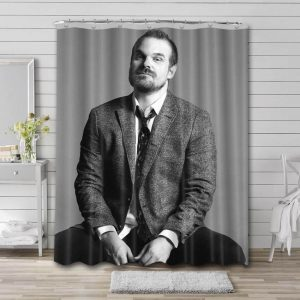 David Harbour Movies Shower Curtain Waterproof Polyester Fabric