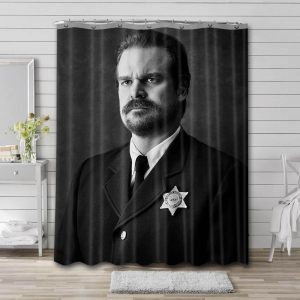 David Harbour Shower Curtain Waterproof Polyester Fabric