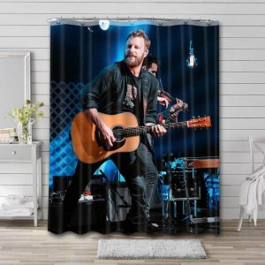 Dierks Bentley On Stage Shower Curtain Waterproof Polyester Fabric