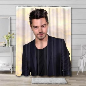 Dominic Cooper Movies Shower Curtain Waterproof Polyester Fabric