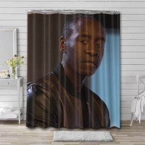 Don Cheadle Photo Shower Curtain Waterproof Polyester Fabric