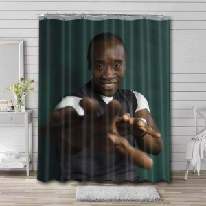 Don Cheadle Photo Bathroom Shower Curtain Waterproof Polyester