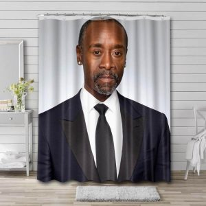 Don Cheadle Shower Curtain Bathroom Decoration Waterproof Polyester Fabric.