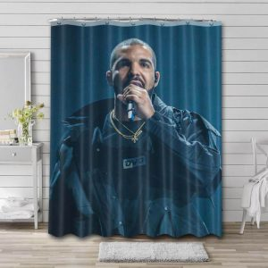 Drake Rapper Shower Curtain Waterproof Polyester Fabric