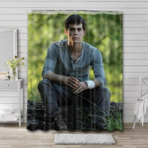 Dylan O'Brien Actor Bathroom Shower Curtain Waterproof Polyester