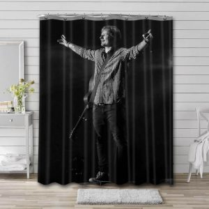 Ed Sheeran On Stage Shower Curtain Waterproof Polyester Fabric