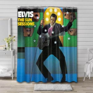Elvis Presley The Sun Sessions Shower Curtain Waterproof Polyester Fabric