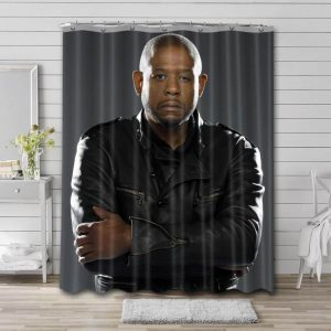 Forest Whitaker Actor Shower Curtain Bathroom Waterproof Fabric