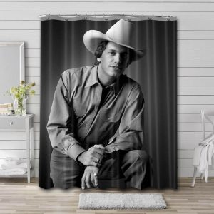 George Strait Shower Curtain Waterproof Polyester Fabric