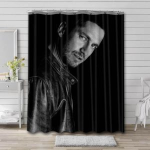 Gerard Butler Movies Shower Curtain Waterproof Polyester Fabric