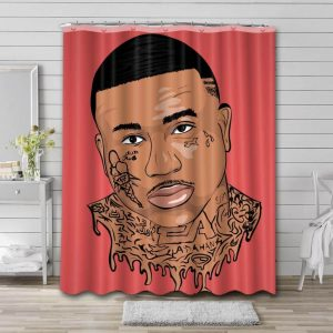Gucci Mane Shower Curtain Waterproof Polyester Fabric