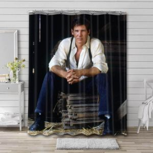 Harrison Ford Actor Shower Curtain Waterproof Polyester Fabric