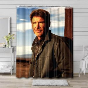 Harrison Ford Actor Bathroom Shower Curtain Waterproof Polyester