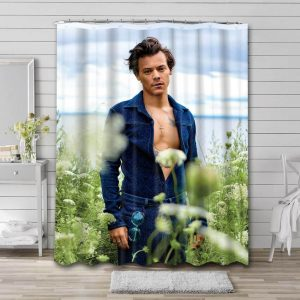 Harry Styles Shower Curtain Waterproof Polyester Fabric