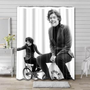 Harry Styles Shower Curtain Bathroom Decoration Waterproof Polyester Fabric.