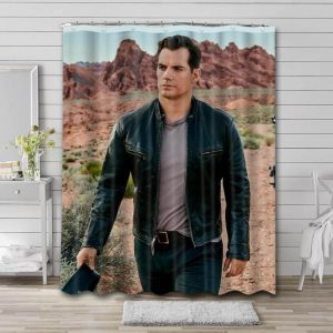Henry Cavill Movies Shower Curtain Waterproof Polyester Fabric