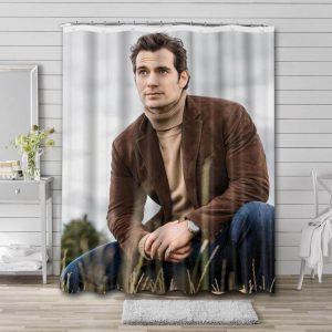 Henry Cavill Shower Curtain Waterproof Polyester Fabric
