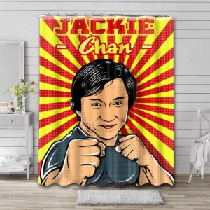 Jackie Chan Shower Curtain Waterproof Polyester Fabric
