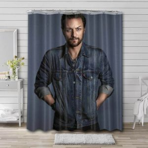James McAvoy Shower Curtain Bathroom Decoration Waterproof Polyester Fabric.