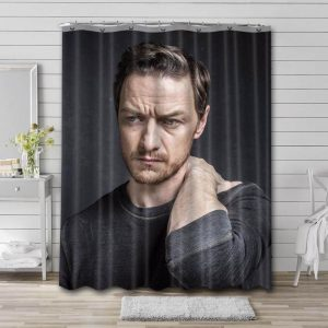 James McAvoy Shower Curtain Waterproof Polyester Fabric