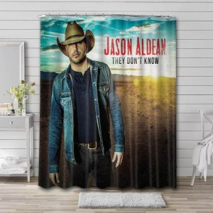 Jason Aldean They Don't Know Shower Curtain Waterproof Polyester Fabric