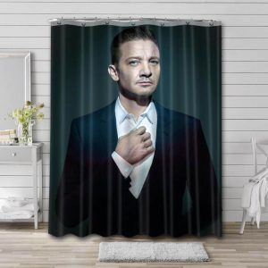 Jeremy Renner Hollywood Shower Curtain Waterproof Polyester Fabric
