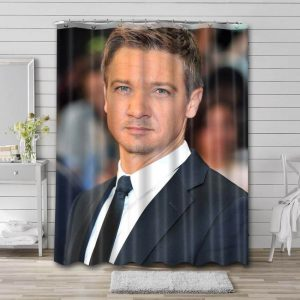 Jeremy Renner Hollywood Bathroom Shower Curtain Waterproof Polyester