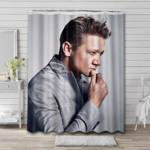 Jeremy Renner Actor Shower Curtain Waterproof Polyester Fabric