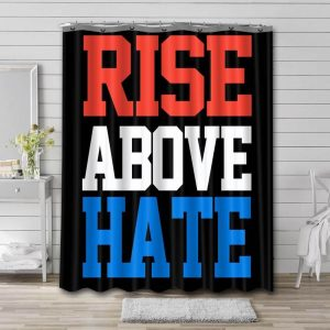 John Cena Rise Above Hate Shower Curtain Waterproof Polyester Fabric