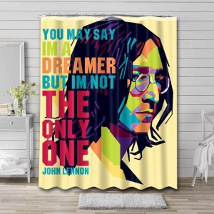 John Lennon Quotes Bathroom Shower Curtain Waterproof Polyester