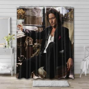 Johnny Depp Actor Shower Curtain Waterproof Polyester Fabric