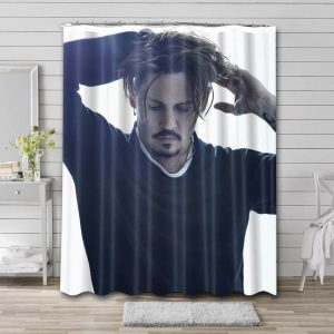 Johnny Depp Shower Curtain Waterproof Polyester Fabric