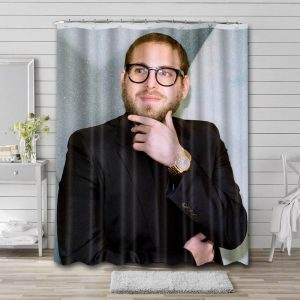 Jonah Hill Actor Shower Curtain Waterproof Polyester Fabric