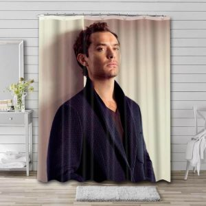 Jude Law Movies Shower Curtain Waterproof Polyester Fabric