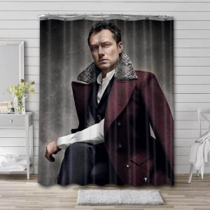 Jude Law Shower Curtain Waterproof Polyester Fabric
