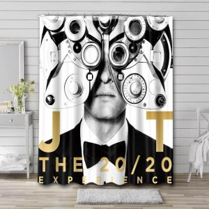 Justin Timberlake The 20/20 Experience Shower Curtain Bathroom Decoration