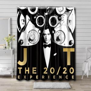 Justin Timberlake The 20/20 Experience Shower Curtain Waterproof Polyester Fabric
