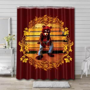 Kanye West The College Dropout Bathroom Shower Curtain Waterproof Polyester