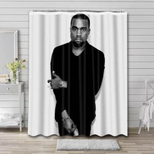 Kanye West Rapper Shower Curtain Waterproof Polyester Fabric