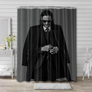 Keanu Reeves Actor Shower Curtain Waterproof Polyester Fabric