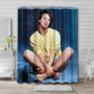 Keanu Reeves Photo Shower Curtain Waterproof Polyester Fabric